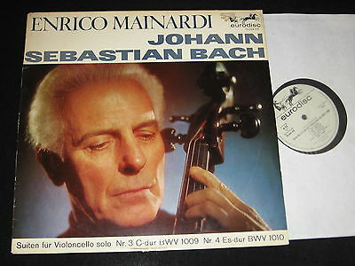 MAINARDI: Bach Suites for Cello Solo 3 & 4 ED1 Eurodisc 70224KK NM