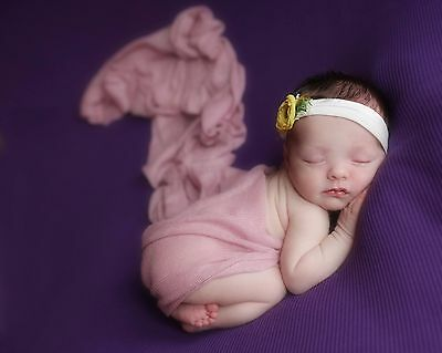 Pink Viola Newborn Stretch Knit Soft Wrap Baby Photo Photography Prop 60 x120cm