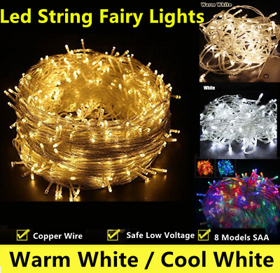 Warm/Bright White 500LED 100M String Fairy Lights Christmas Wedding Party CE