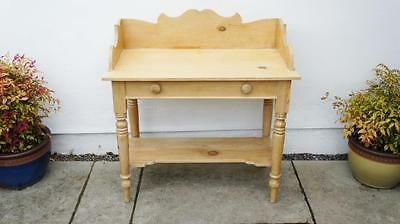 Large Victorian pine wash stand, gallery back,  refurbished, solid and clean