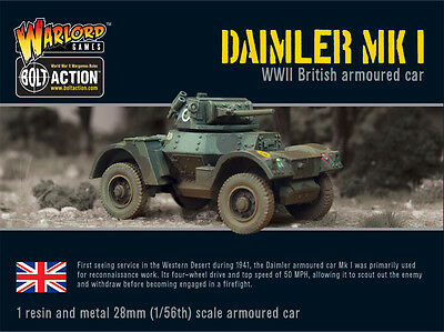 **bnib** Warlord Games Bolt Action British Daimler Armoured Car
