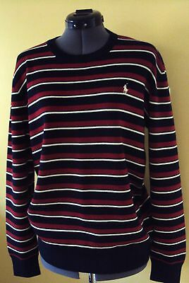NWT POLO Ralph Lauren Red White Blue Sweater Fits Youth XL 18-20 Men M Women L
