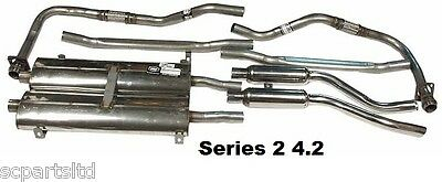 Jaguar E Type Series 2 4.2 Exhaust System Stainless Steel & Fittings