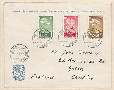 FINLAND  ^^^^^^1949 better  used SEMIS POSTALS  set on FDC cover@ ea7082xxbfin7