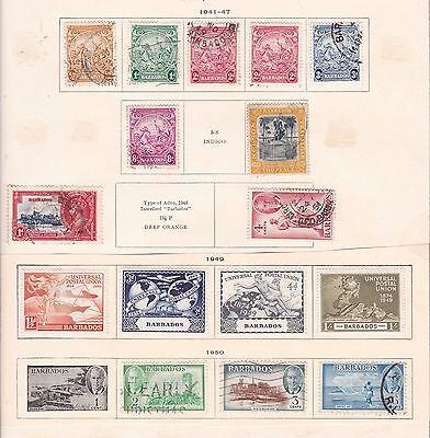 BARBADOS   ^^^^1941-50  mint & used collection   $$ @f8856xxbbarb