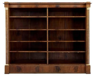Late 19Th Century Mahogany Empire Influenced Open Bookcase