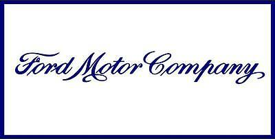 Ford Motor Company Genuine Blue White Car Auto Garage Shop Vinyl Banner Sign Art