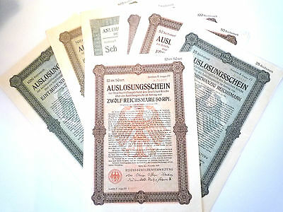Fantastic Collection of 7 different German Bonds from 1925