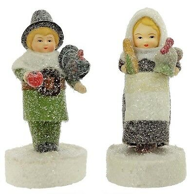 Mary & Myles Mayflower Couple Pilgrim Figurines Thanksgiving Margaret Haire