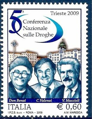 Italy 2009 Fight against drugs National Conference Health Welfare People 1v MNH