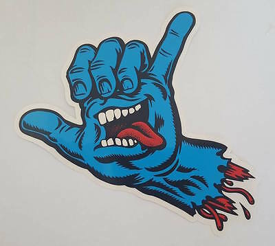 *** Santa Cruz  - Skateboard Sticker  - Screaming Shaka Hand - 15x18 cm ***
