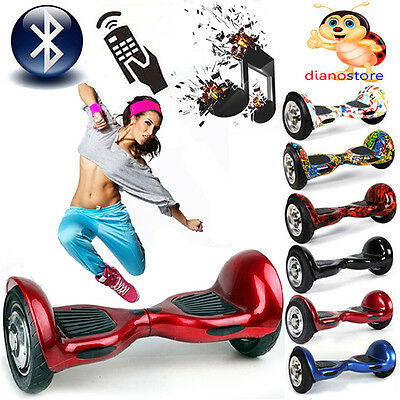 Hoverboard 10 Pollici Luci Led Bluetooth Monopattino Elettrico Scooter Overboard