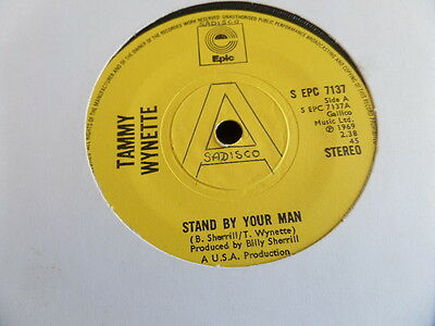 """Tammy Wynette Stand By Your Man 7"""" Single 45rpm Country"""