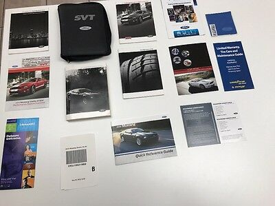 Ford Mustang Shelby 2014 Owners Manual Books. SVT Case Oem. Free Shipping