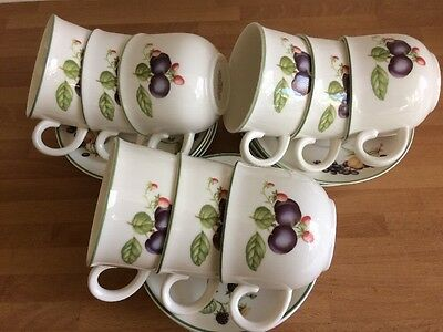 St Michael. M&S Ashberry Cups And Saucers X 9