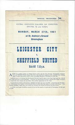 Leicester City v Sheffield United FA Cup Semi Final 2nd Replay 1961 @ Birmingham