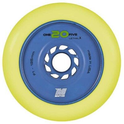 Matter LETHAL X 125mm, F1 indoor speed skate wheels.....NEW!