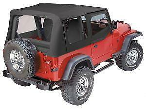 Pavement Ends Replay - Black Denim Top for 88-95 Jeep Wrangler YJ Clear w/ Skins