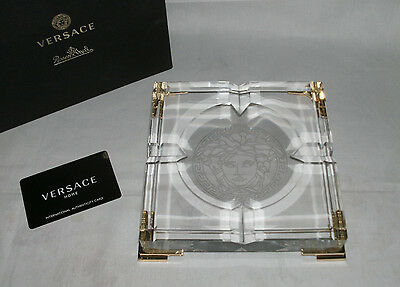 Versace Medusa Prisma Clear Ascher /  Ashtray 16 cm Neu Ovp 1.Wahl
