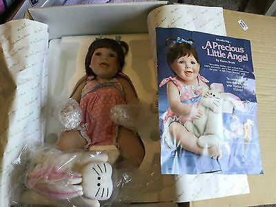 "DANBURY MINT ""A PRECIOUS LITTLE ANGEL"" PORCELAIN DOLL by KAREN SCOTT - BOX"