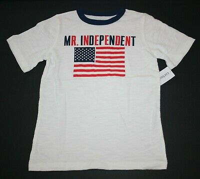 New Carter's USA Flag Mr Independant July 4th Top Tee NWT 2t 3t 4t 5t 6 7 8 Boys