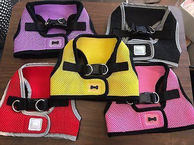Lot Of 5 Harnesses Size Small Mesh Yellow Red Pink Lavender Black