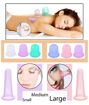 Glamza Body & Facial Silicone Vacuum Suction Lifting Massage Cup in 3 Sizes