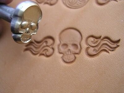 014-01 Skull Leather stamp homemade Saddlery Tool