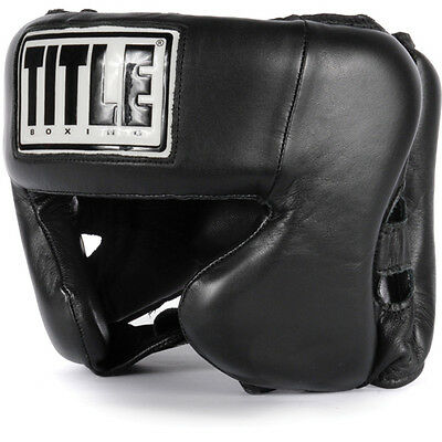 Title Boxing Hi-Performance Leather Training Headgear