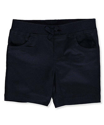 French Toast Big Girls' Wrinkle No More Pull-On Tie-Front Shorts (Sizes 7 - 20)