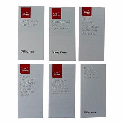 Manual and Information Pack for Samsung Galaxy S6 edge - Verizon Branded