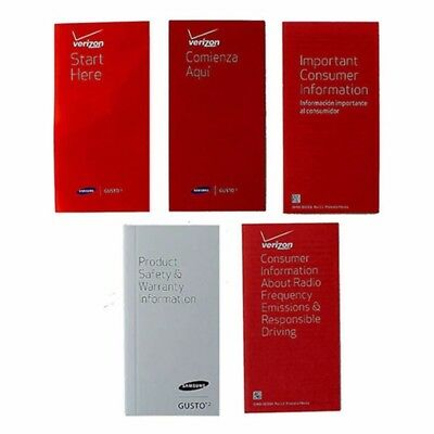 NEW Manual and Information Pack for Samsung Gusto 2 - Verizon Branded
