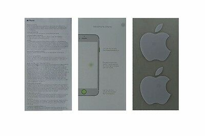 User Guide and Welcome Card for Apple iPhone 7 Plus - Apple Sticker Included