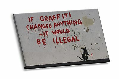 Banksy Street Art If Graffiti Changed Anything HD Canvas Giclee Gallery Print