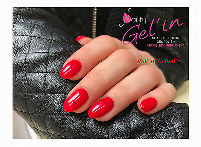 Vernis Semi Permanent NAILITY UV/LED/CCFL n°75 Red'Y  7ml GEL POLISH USA