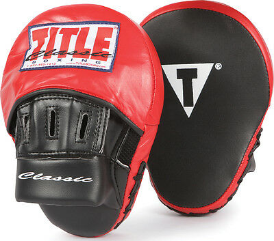 Title Classic Aero Boxing Punch Mitts - Black/Red