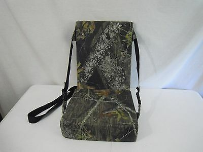 Hunters Seat Cushion w/Back Deer Hunting Chair Camo Blind Seat Boat Seat