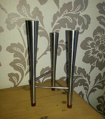 Old Hall Robert Welch Stainless Steel Candelabra/Candle Holder