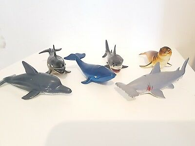 6 x Medium TOY MODEL ACTION FIGURES Sea World, TOYS, FREE PP Sea Life Fish