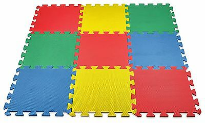 Baby Play Mat Foam Floor Puzzle 9 Tiles Toddler Activity Gym Kids Safety Playma