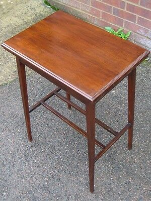 Victorian antique Arts & Crafts solid mahogany A-frame folding card games table