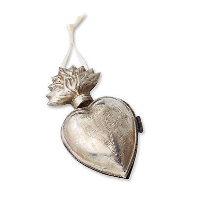 Heart Locket Milagro Silver Metal Ornament Gilded Life New Valentine