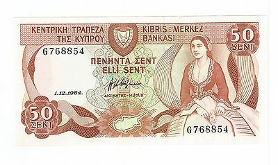 CYPRUS 50 Cent BANKNOTE 1984 Unc