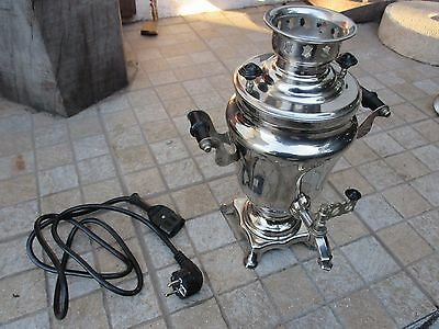 Vintage Genuine Russian Beautiful Samovar 1.5 Litres Tea Kettle Heater Boiler