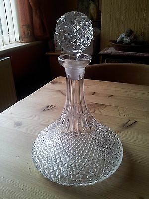 Stunning Crystal Cut Glass Ships Decanter,Immaculate Condition.
