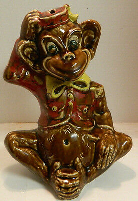 "Vintage C. Miller Regal China Monkey Bank 12"" x 8.5"" Very Good Condition"