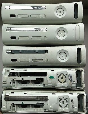 Lot Of 5 Xbox 360 Console Consoles White Red Ring of Death AS-IS For Parts