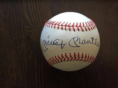 Exceptional MICKEY MANTLE Yankees 1980s Single Signed Baseball JSA