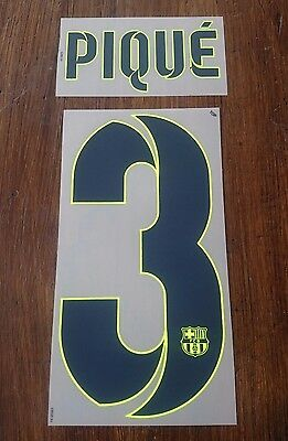 Barcelona 2014-15 Away Name & Number Set PIQUE 3