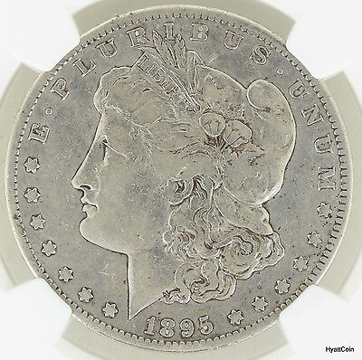 1895-S Morgan Silver Dollar $1 NGC Fine Details